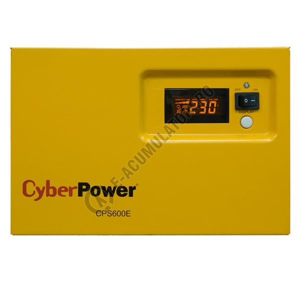 UPS pentru centrale termice Cyber Power CPS600E 600VA 420W cu acumulator VRLA 100 Ah-big