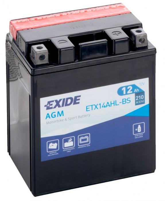 Acumulator Moto Exide cu AGM 12V 12 Ah YTX14AHL-BS-big