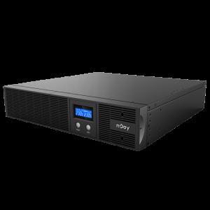 UPS nJoy Argus 2200, 2200VA/1320W, LCD Display, 4 IEC C13 cu Protectie, Management, rack 2U0