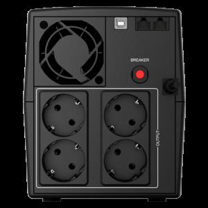 UPS nJoy Keen USB 1000, 1000 VA / 600 W, Management, HID USB port, Auto-restart, AVR, 4 prize Schuko cu protectie2