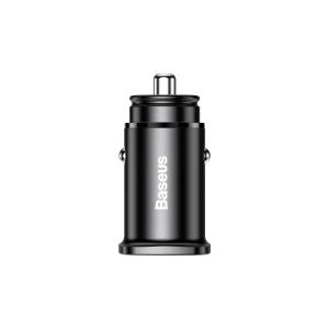 Incarcator Auto USB si Type-C Baseus Metal Dual Port 30W Black1
