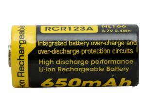 Acumulator 16340 Li-Ion 650 mah Nitecore NL166 RCR123A4