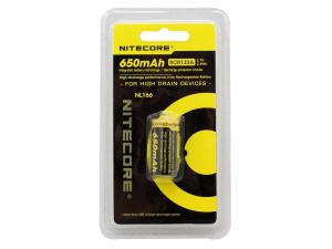 Acumulator 16340 Li-Ion 650 mah Nitecore NL166 RCR123A2