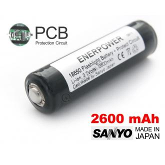 Acumulator 18650 Li-Ion 2600 mAh Sanyo cu protectie PCB 5 A0