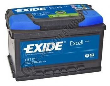 Acumulator Auto Exide Excell 71 Ah cod EB7120
