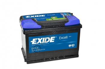 Acumulator Auto Exide Excell 74 Ah cod EB7401