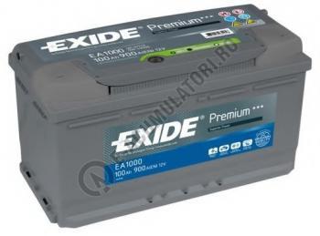Acumulator Auto Exide Premium 100 Ah cod EA10000