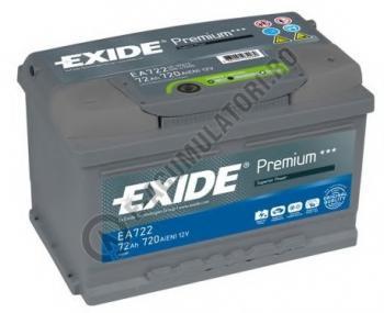 Acumulator Auto Exide Premium 72 Ah cod EA7220