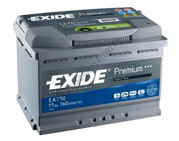 Acumulator Auto Exide Premium 77 Ah cod EA7700