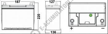 Acumulator Auto Exide Premium Asia 38 Ah cod EA387 borne inverse1