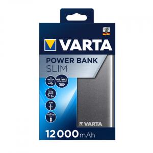 Powerbank Varta Slim Litiu-Polimer 12000mAh USB-C 579660