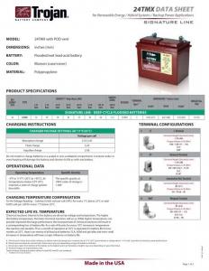 Acumulator Tractiune TROJAN 24 TMX Deep Cycle 12V 85 Ah1