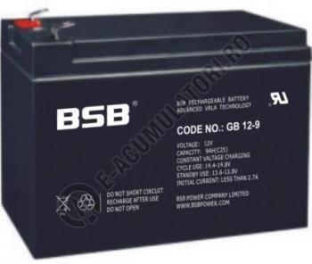 Acumulator VRLA BSB 12 V 9 Ah cod GB12-91