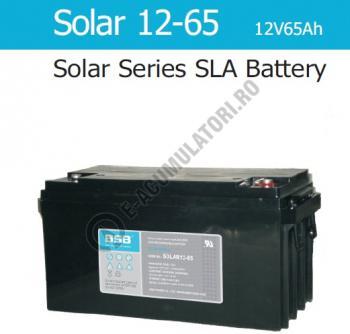 Acumulator VRLA cu GEL BSB 12 V 65 Ah cod SOLAR12-650
