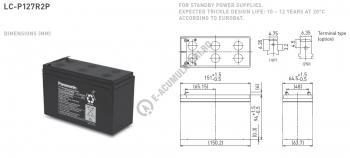 Acumulator VRLA Panasonic 12V 7.2 Ah cod LC-P127R2P1 (F250)1