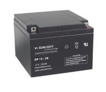Acumulator VRLA SUNLIGHT 12V 26 Ah cod SPA 12-261