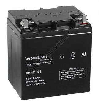 Acumulator VRLA SUNLIGHT 12V 28 Ah cod SPA 12-280