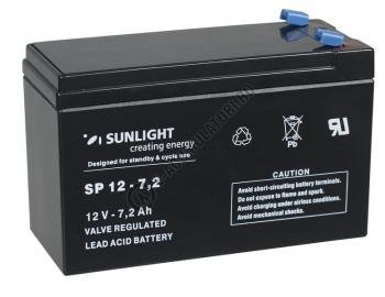 Acumulator VRLA SUNLIGHT 12V 7.2 Ah cod SPA 12-7.20