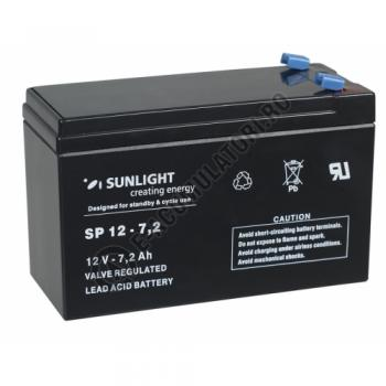Acumulator VRLA SUNLIGHT 12V 7.2 Ah cod SPA 12-7.21