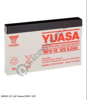 Acumulator VRLA Yuasa 12V, 2Ah NP2-120