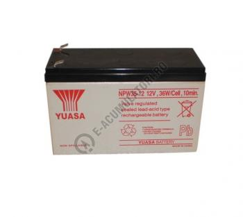 Acumulator VRLA Yuasa 12 V 7 Ah cod NPW36-121