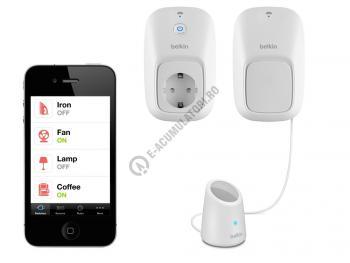 Dispozitiv WeMo Belkin + Senzor de miscare Switch+Motion F5Z0340ay1