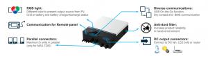 Invertor solar Poweracu MAX 7.2KW 48V MPPT LCD LED + WiFi2