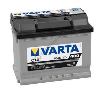BATERIE AUTO VARTA BLACK 56 Ah cod C14 - 5564000483122 Logan benzina2