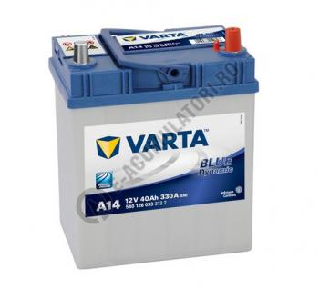 BATERIE AUTO VARTA BLUE 40 Ah cod A14 - 54012603331320