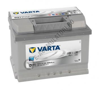 BATERIE AUTO VARTA SILVER 61 Ah cod D21 - 56140006031620