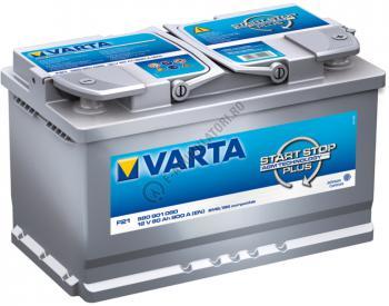 BATERIE AUTO VARTA Start Stop AGM 80 Ah cod F21 580901080 D8521