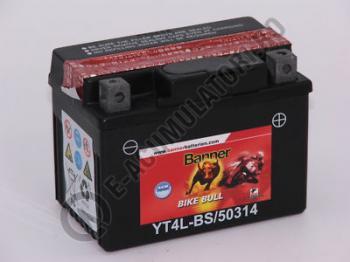Baterie MOTO BANNER BIKE BULL AGM 12V 3 Ah YTX4L-BS cod 503 141