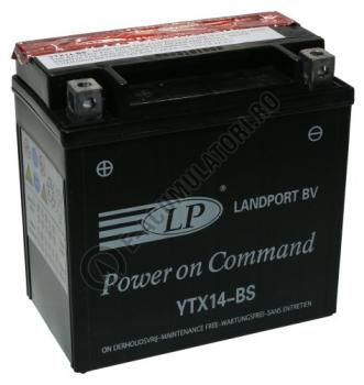 Baterie MOTO LANDPORT AGM 12V 12 Ah borne inverse YTX14-BS1