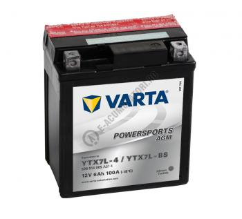 BATERIE MOTO VARTA cu AGM 12 V 6 Ah YTX7L-BS cod 506014005A5140