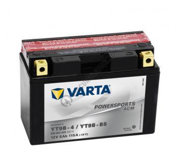 BATERIE MOTO VARTA cu AGM 12 V 9 Ah YT9B-BS borne inverse cod 509902008A5140