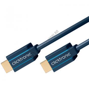 Cablu High Speed HDMI™ cu Ethernet (HDMI A/HDMI A) Clicktronic 1.5m cod 703022