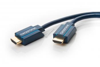 Cablu High Speed HDMI™ cu Ethernet (HDMI A/HDMI A) pentru HD si 3D TV Clicktronic 5m cod 703052