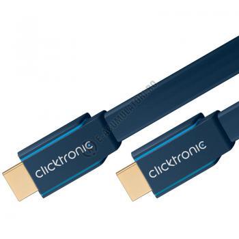 Cablu High Speed HDMI Flat Ethernet (HDMI A/HDMI A) 5 m Clicktronic cod 703162