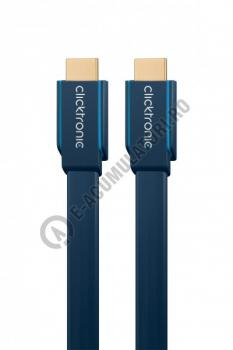 Cablu High Speed HDMI Flat Ethernet (HDMI A/HDMI A) Clicktronic 1m cod 703122