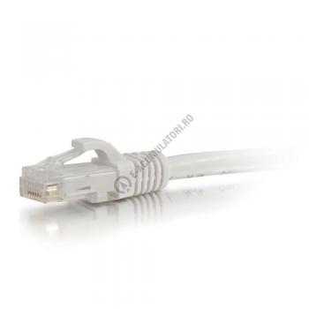 Cablu retea UTP CAT6 Booted Unshielded C2G 15m white 834931