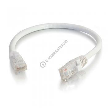 Cablu retea UTP CAT6 Booted Unshielded C2G 15m white 834930