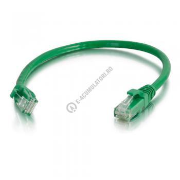 Cablu retea UTP CAT6 Booted Unshielded C2G 7m green 834310