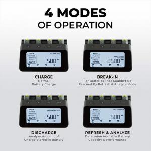 Incarcator inteligent R6 R3 Maha Powerex C9000Pro1