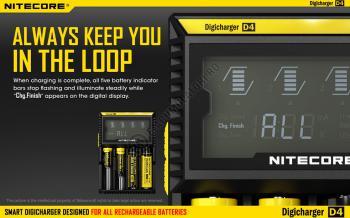 Incarcator Universal Inteligent NITECORE Digicharger D4 cu adaptor auto8
