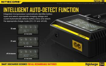 Incarcator Universal Inteligent NITECORE Digicharger D4 cu adaptor auto3
