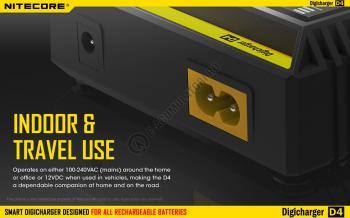 Incarcator Universal Inteligent NITECORE Digicharger D4 cu adaptor auto11