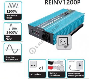 Invertor Profesional RING Pure Sine Wave 12V 1200W REINV1200P1