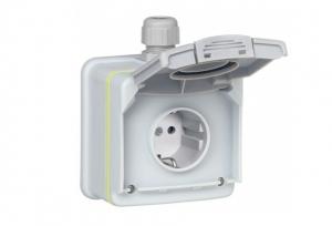 Kit priza pentru incarcare vehicule electrice Legrand Green'up 3.7kw IP552