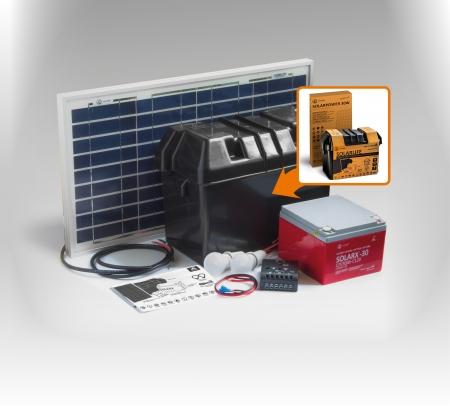 Kit solar Xunzel Off-Grid complet pentru iluminat SOLARLIFE30i0