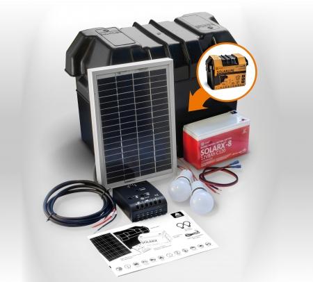 Kit solar Xunzel Off-Grid complet pentru iluminat SOLARLIFE5i0